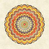 Mandala rotonda d'annata variopinta Immagini Stock Libere da Diritti