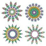 Mandala rotonda degli ornamenti Fotografia Stock Libera da Diritti