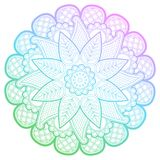 Mandala rotonda di pendenza con i modelli floreali Fotografie Stock Libere da Diritti