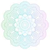 Mandala rotonda di pendenza con i modelli floreali Fotografia Stock