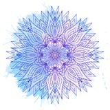 Mandala rotonda disegnata a mano Fotografia Stock Libera da Diritti