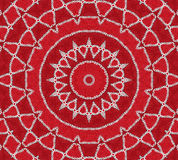 Mandala rouge d'inspiration Photographie stock libre de droits