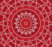 Mandala rouge d'inspiration Photographie stock libre de droits