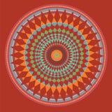 Mandala rouge. illustration Photographie stock libre de droits