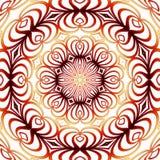 mandala Rouge-jaune Image libre de droits