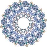 Mandala round ornament decorative. Geometric floral circle ornament... Mandala round decorative ornament. Geometrical floral circle ornament in light colors Stock Image