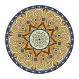 Mandala, round ethnic ornament. Vintage lace pattern. Vector circle background. Stock Photo