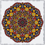 Mandala, round ethnic ornament. Vintage lace pattern. Vector circle background. Stock Images
