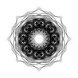 Mandala Round Ethnic Pattern Vector Lizenzfreies Stockfoto