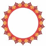 Mandala - round frame for your text. Empty space, white backgrou Stock Images