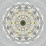 Mandala. Round linear ornament of gray pastel color royalty free stock photography