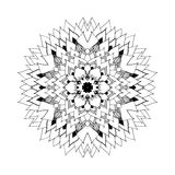 Mandala. Round oriental pattern in indian style royalty free illustration