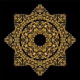 Mandala round ornament.Arabic Vintage decorative Royalty Free Stock Photography