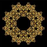 Mandala round ornament.Arabic Vintage decorative Royalty Free Stock Photos