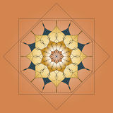 Mandala, round ornament, element for design on beige background Royalty Free Stock Photography