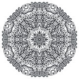 Mandala round ornament, floral geometric circular pattern Royalty Free Stock Image