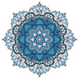 Mandala round ornament, floral geometric circular pattern Royalty Free Stock Photo