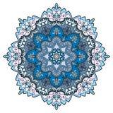 Mandala round ornament, floral geometric circular pattern Royalty Free Stock Photo