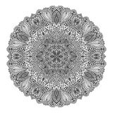 Mandala. Round Ornament Pattern. Beautiful ornament can be used as a greeting card. Hand drawn background stock illustration