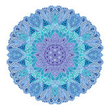 Mandala. Round Ornament Pattern. Beautiful ornament can be used as a greeting card. Hand drawn background royalty free illustration
