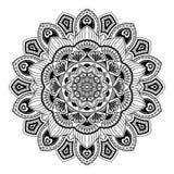 Mandala. Round Ornament Pattern. Beautiful ornament can be used. Mandala. Black and white. Round Ornament Pattern. Beautiful ornament can be used as a greeting royalty free illustration
