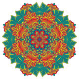 Mandala. round ornament pattern with floral decorative elements. Royalty Free Stock Image