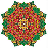 Mandala. round ornament pattern with floral decorative elements. Stock Photos