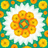 Mandala Round Ornament Pattern Floral Drawing Stock Images