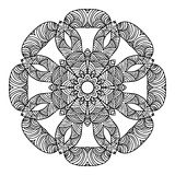 Mandala Round Ornament Pattern Vector Lizenzfreie Stockfotos
