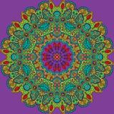 Mandala Round Ornament Pattern Vector. Mandala Round Colorful Ornament Pattern Vector Illustration Stock Photography