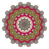 Mandala. Round Ornament Pattern. Vintage decorative elements  Royalty Free Stock Photography