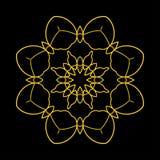 Round Ornament Pattern stock illustration