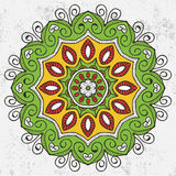 Mandala. Round Ornament Pattern. Vintage decorative elements. Hand drawn background. Islam, Arabic, Indian, ottoman motifs Stock Images