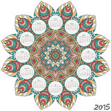 Mandala. Round Ornament Pattern. Vintage decorative elements. Hand drawn background. Islam, Arabic, Indian, ottoman motifs Stock Photography