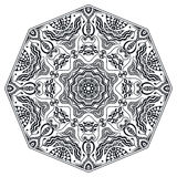 Mandala round ornament, tribal ethnic arabic. Indian style, eight pointed circular abstract floral pattern Royalty Free Stock Photo