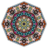 Mandala round ornament, tribal ethnic arabic. Indian style, eight pointed circular abstract floral pattern Stock Photography