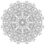 Mandala. Round Ornament. Vintage decorative elements. Oriental pattern, vector illustration. Islam, Arabic or Indian or turkish or pakistan or chinese or Stock Image