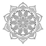 Mandala. Round Ornament. Vintage decorative elements. Oriental pattern, vector illustration. Islam and Arabic and Indian and turkish and pakistan, and chinese Stock Photos