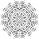 Mandala. Round Ornament. Vintage decorative elements. Oriental pattern, vector illustration. Islam and Arabic and Indian and turkish and pakistan, and chinese Stock Images
