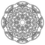 Mandala. Round Ornament. Vintage decorative elements. Oriental pattern, vector illustration. Islam and Arabic and Indian and turkish and pakistan, and chinese Stock Image