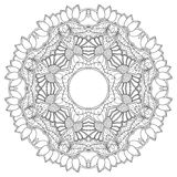 Mandala. Round Ornament. Vintage decorative elements. Oriental pattern, vector illustration. Islam and Arabic, and Indian and turkish and pakistan, and chinese Stock Photography