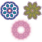 Mandala Round Pattern Set Vector Stockfotos
