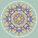 Mandala Round Pattern With Text-Vektor Stockfoto