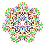 Mandala round pattern. Vintage decorative culture background royalty free illustration
