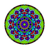 Mandala Round Zentangle Ornament Pattern-Vektor Stockbild