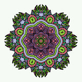 Mandala Round Zentangle Ornament Pattern-Vektor Stockfotos