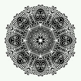 Mandala Round Zentangle Ornament Pattern-Vektor Lizenzfreie Stockfotos