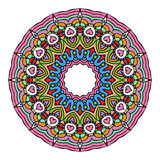 Mandala Round Zentangle Ornament Pattern-Vektor Lizenzfreies Stockbild