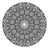 Mandala Round Zentangle Ornament Pattern-Vektor Stockbilder