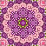 Mandala roxa cor-de-rosa abstrata Foto de Stock